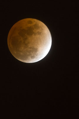 Lunar Eclipse coming out of Totality