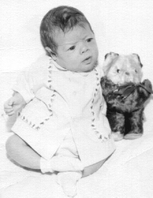 Aaron Wade Walton as an infant